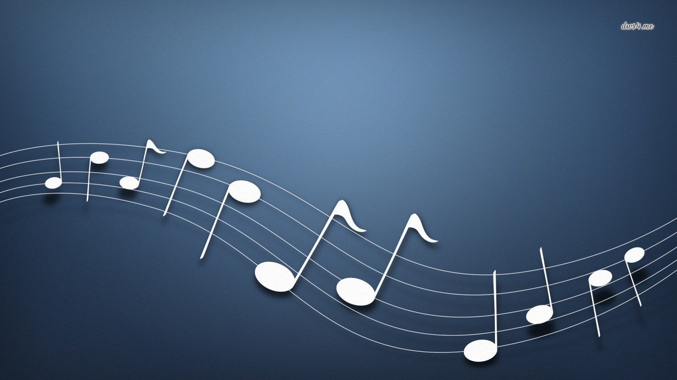 Musical Notes Wallpaper And Background 1366x768 Id 480906