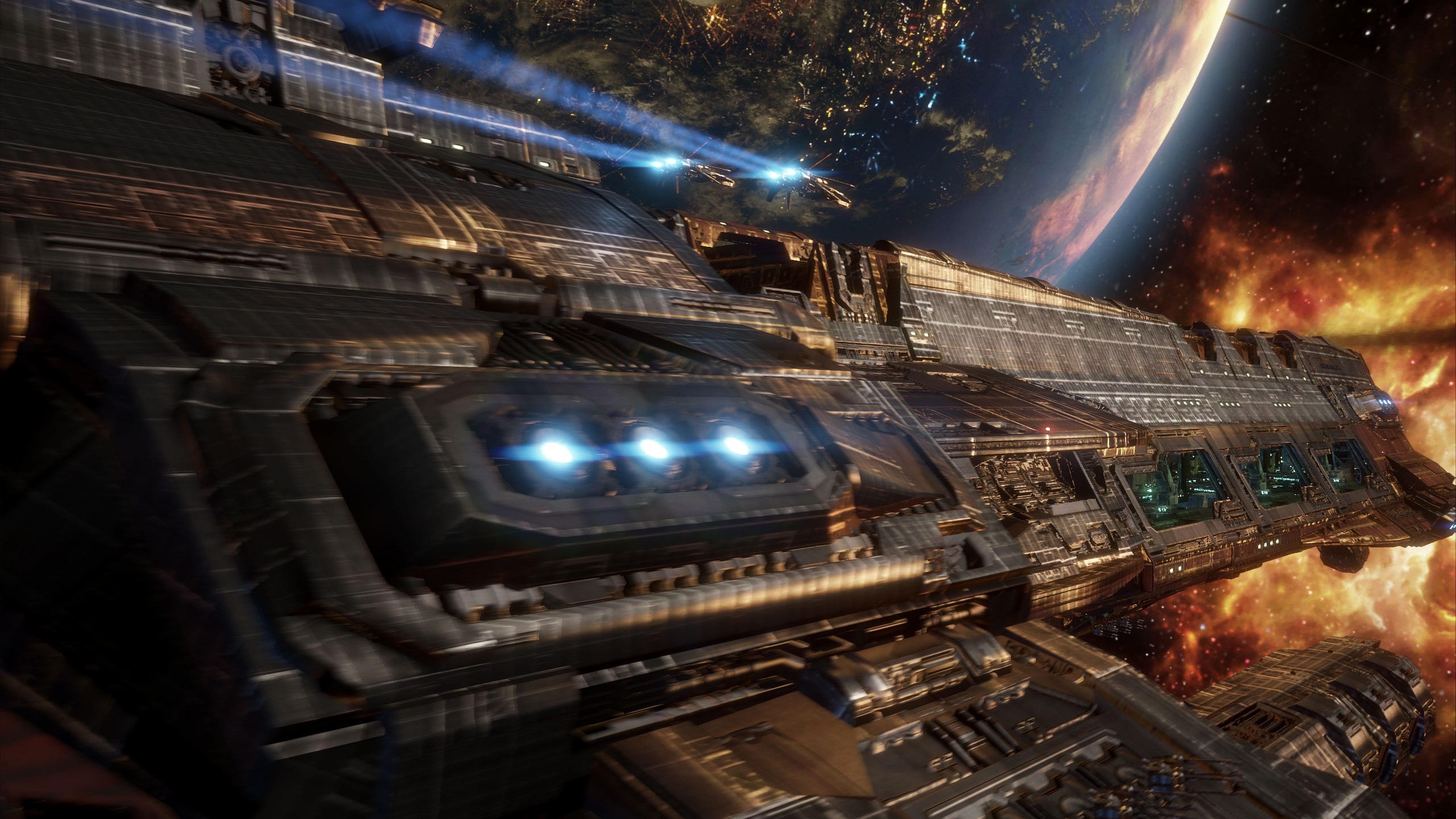 Spaceship 5k retina ultra hd wallpaper and background - Spaceship wallpaper ...