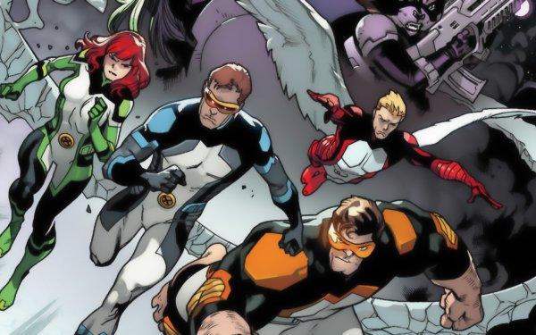 Comics Amazing X-Men X-Men Cyclops Warren Worthington III Angel Marvel Comics Jean Grey HD Wallpaper | Background Image