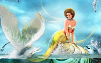 Fantasy - Mermaid Wallpapers and Backgrounds ID : 484824