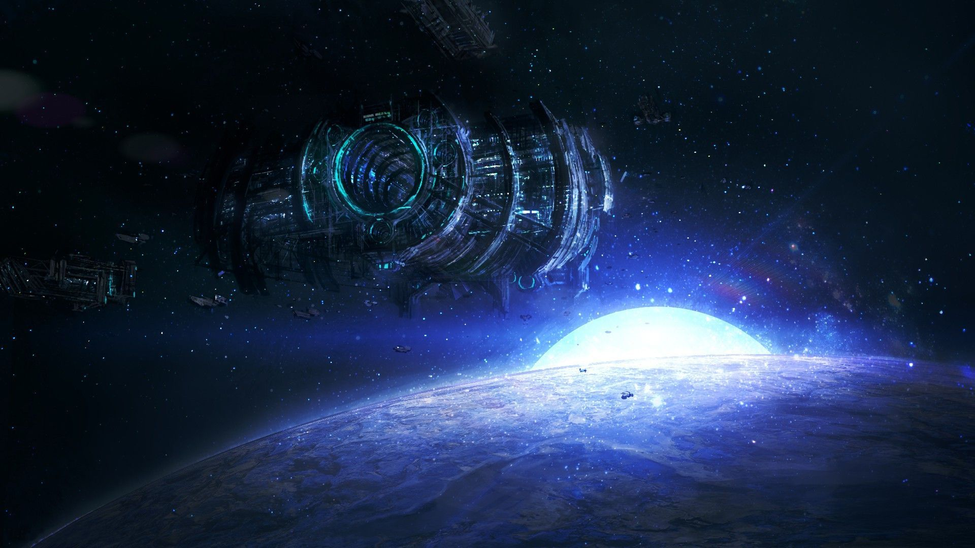 Sci fi space station backgrounds pics about space for Sci fi background