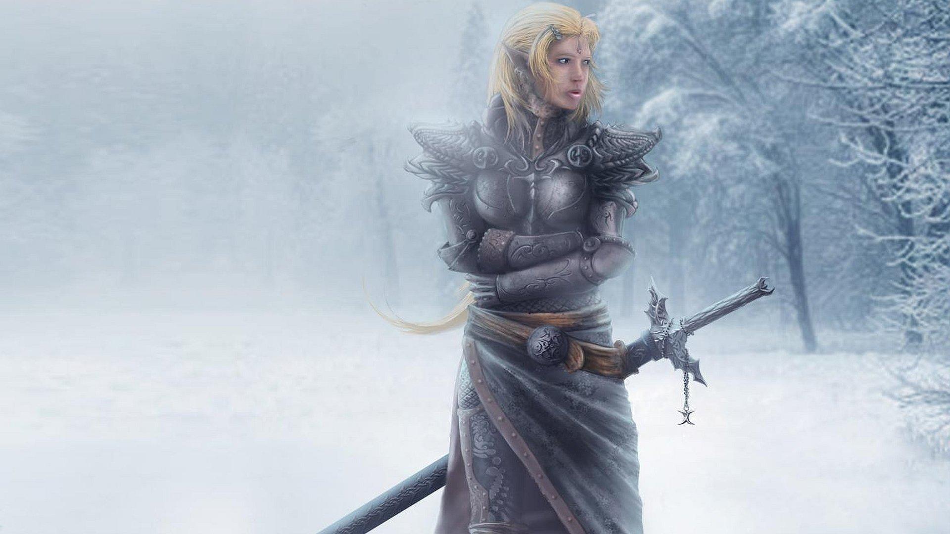 Фэнтези - женщины воин  Обои
