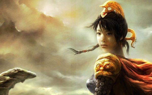 Fantasy Women Warrior Jewelry Cloak Desert HD Wallpaper | Background Image