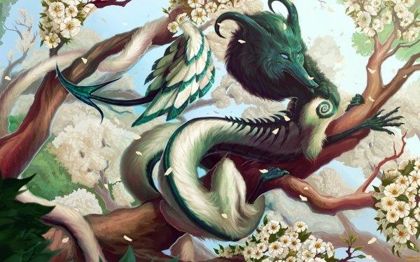 Fantasy Dragon Chinese 3D Snake God China White HD Wallpaper | Background Image