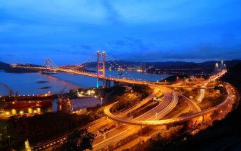 Man Made - Tsing Ma Bridge Wallpapers and Backgrounds ID : 490951