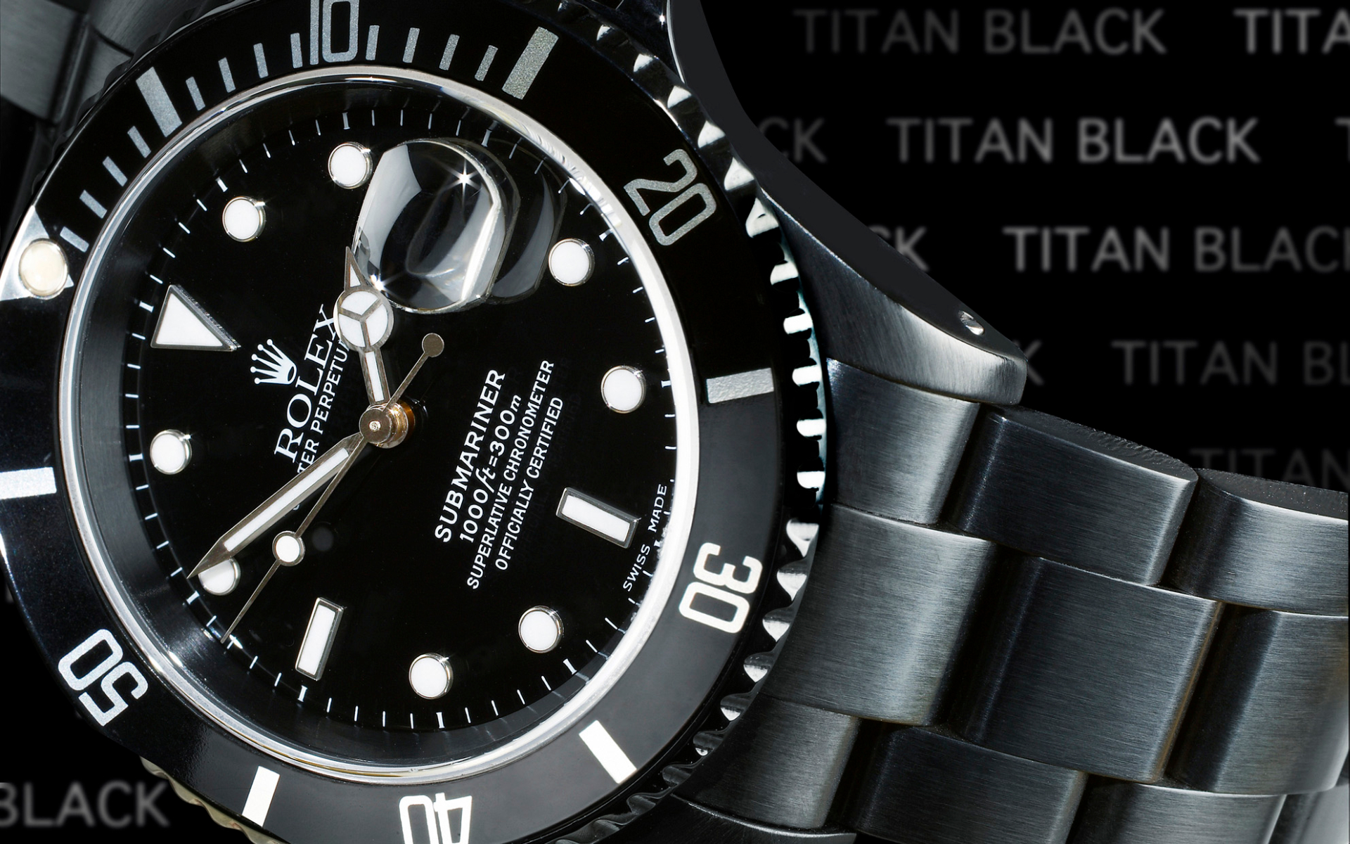 Titanblack Rolex Submariner Dlc Watch Fondo De Pantalla Hd