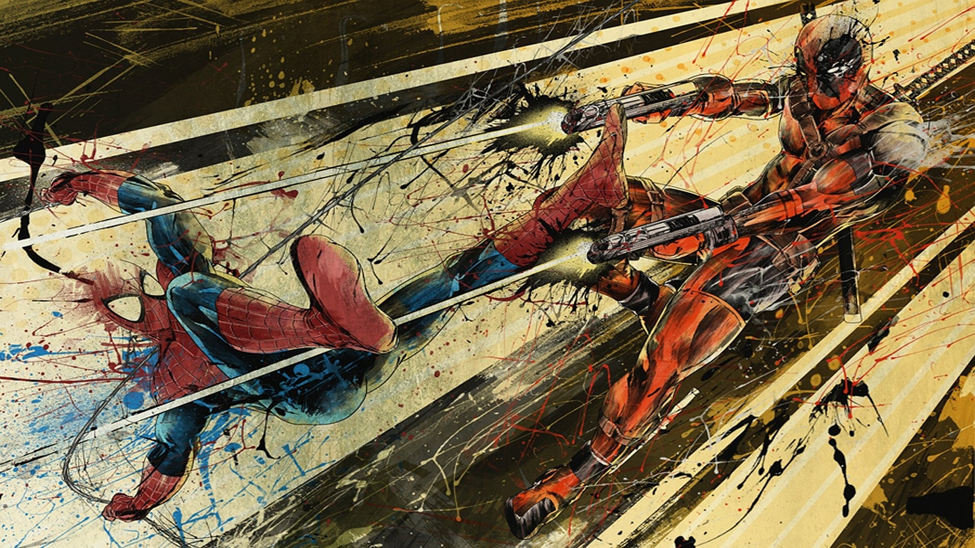 2 Spiderman Vs Deadpool Hd Wallpapers Background Images