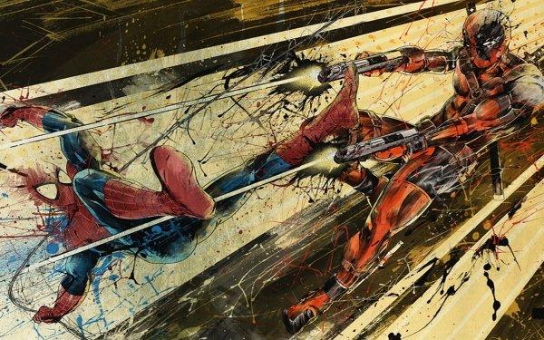 Bande-dessinées Spiderman vs Deadpool Spider-Man Deadpool Fond d'écran HD | Arrière-Plan