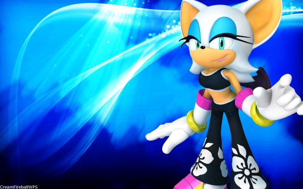 Video Game Sonic Free Riders Sonic Rouge the Bat HD Wallpaper | Background Image