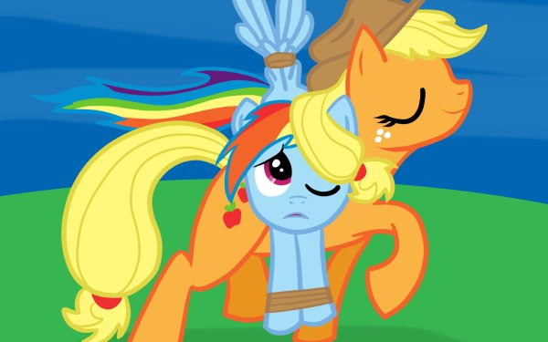 TV Show My Little Pony: Friendship is Magic My Little Pony Rainbow Dash Applejack HD Wallpaper | Background Image