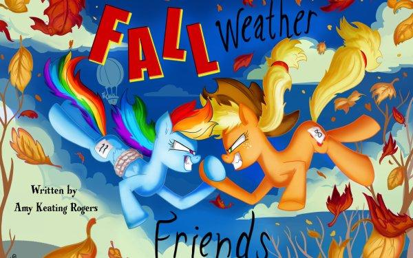 TV Show My Little Pony: Friendship is Magic My Little Pony Applejack Rainbow Dash HD Wallpaper   Background Image