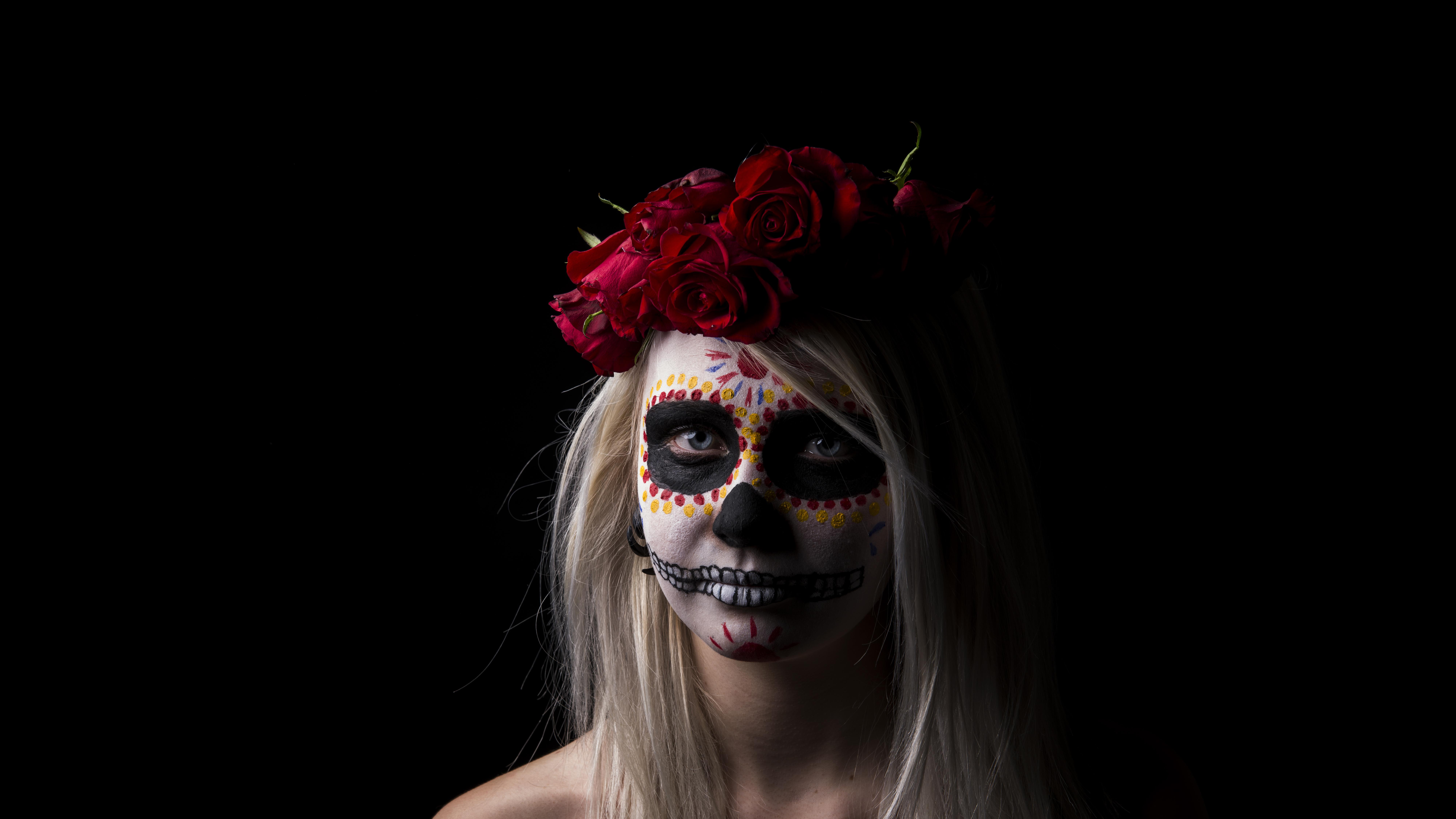 Sugar skull 8k ultra hd wallpaper background image 8000x4500 id 515050 wallpaper abyss - Sugar skull background ...