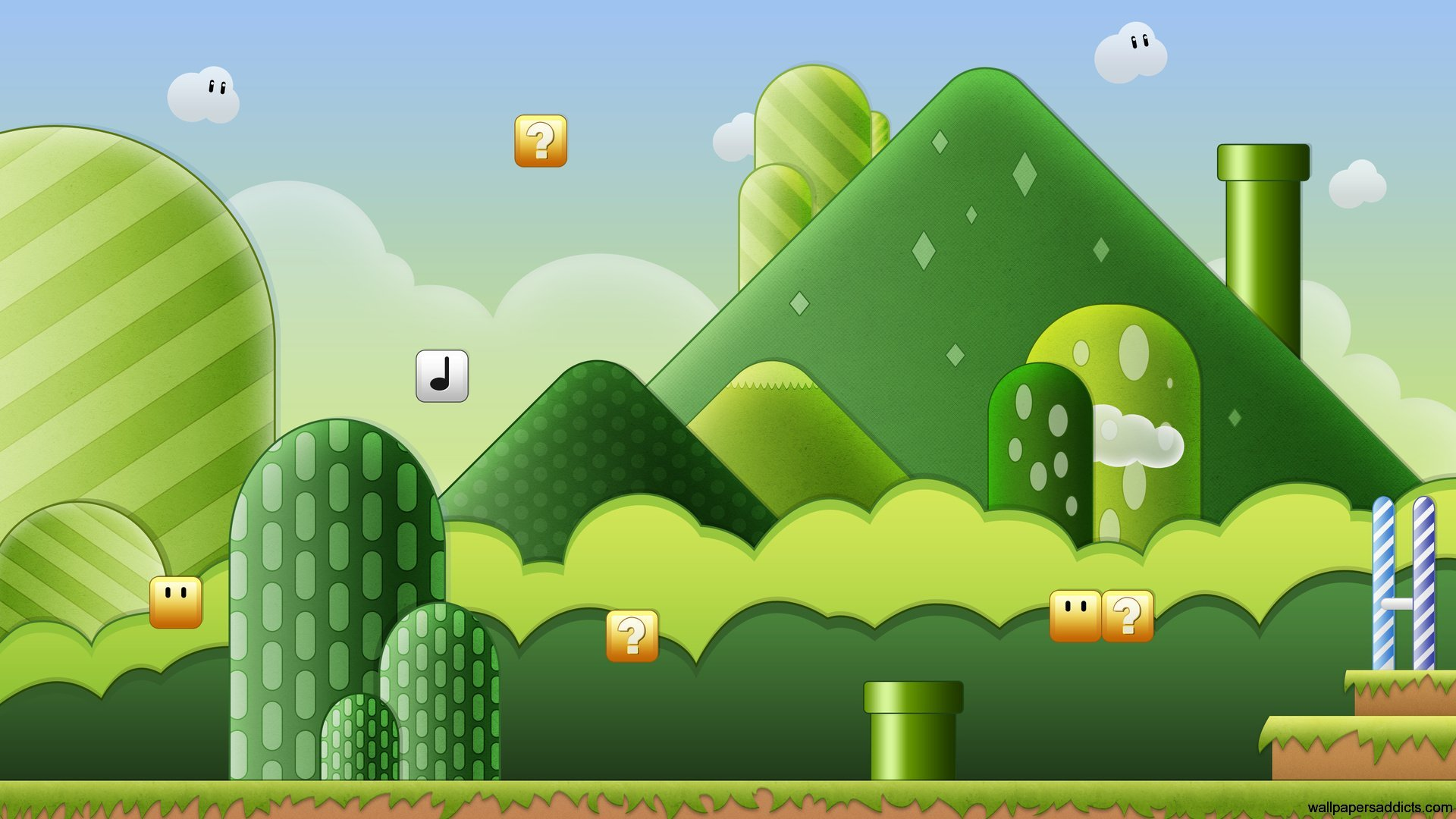 Fun In The World Of Games Hd Wallpapers: Super Mario World HD Wallpapers
