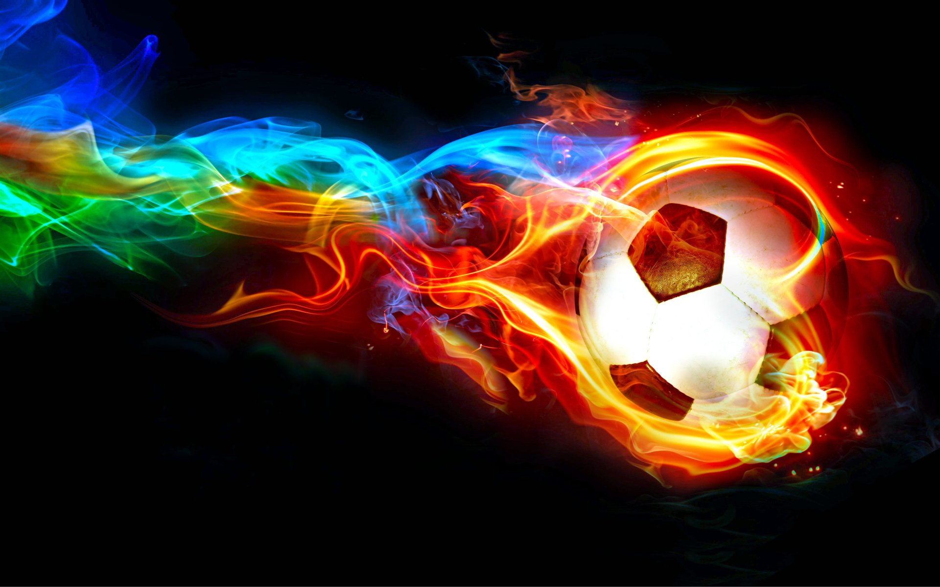 Sports - Soccer  Flame Ball Colorful Worldcup Sport Abstract Wallpaper