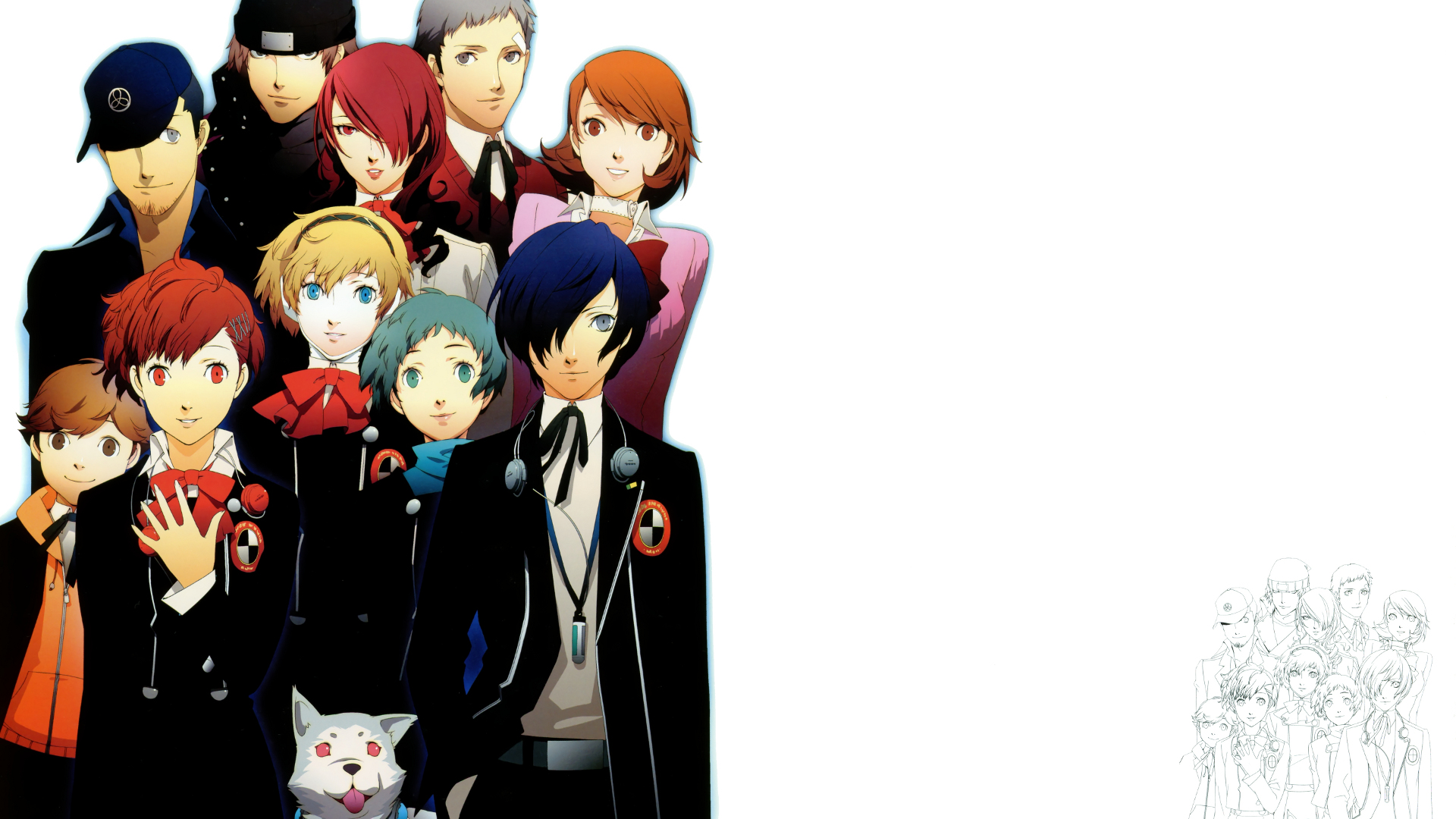 Persona 3 portable full hd wallpaper and background image video game persona 3 portable wallpaper voltagebd Images