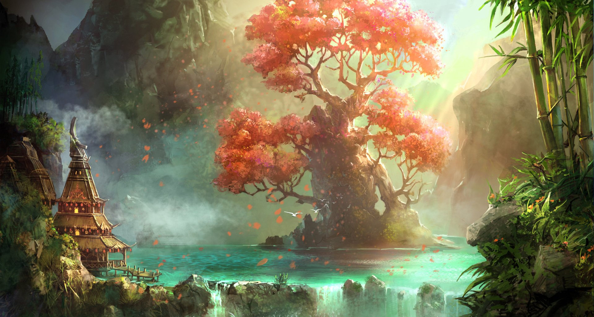 Tree of knowledge wallpaper and background image - Fantasy scenery wallpaper ...