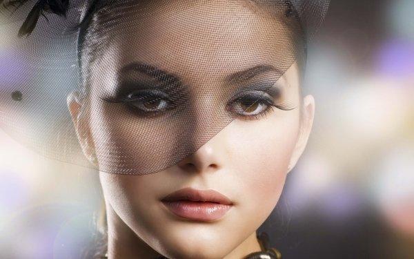 Women Judy Wilkins Models Face Hat HD Wallpaper | Background Image