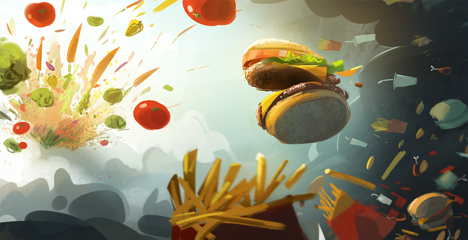 Fast Food Wallpaper And Background Image
