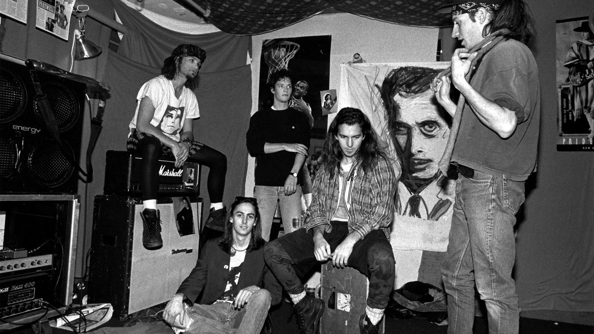 Eddie Vedder And Chris Cornell Pearl Jam Full HD Bakg...