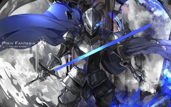 Anime Pixiv Fantasia Fallen Kings Pixiv Fantasia Sword Armor HD Wallpaper | Background Image