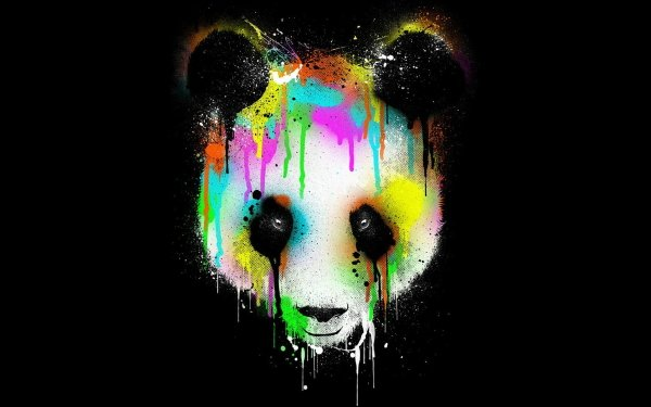 Tiere Panda Colorful HD Wallpaper | Hintergrund