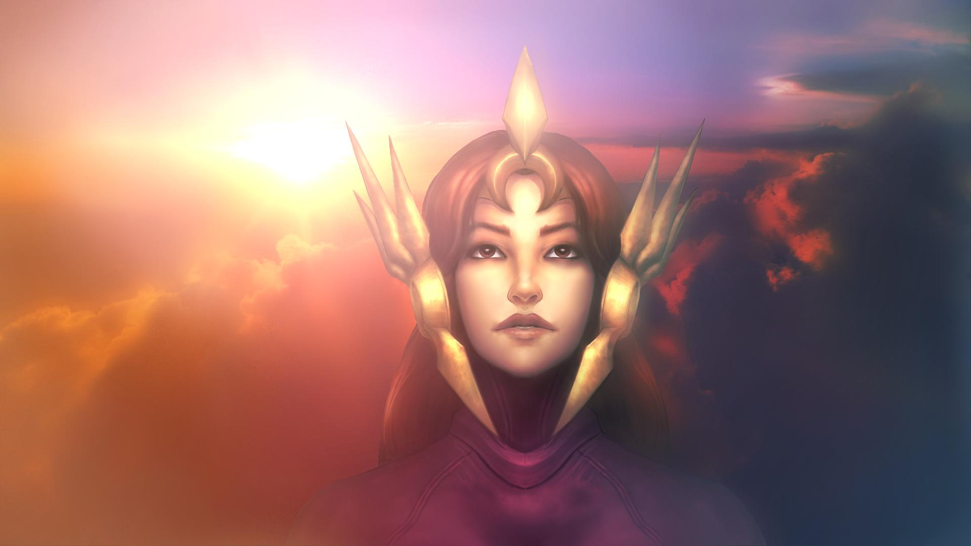 Leona League Of Legends Hd Wallpaper Hintergrund 1920x1080