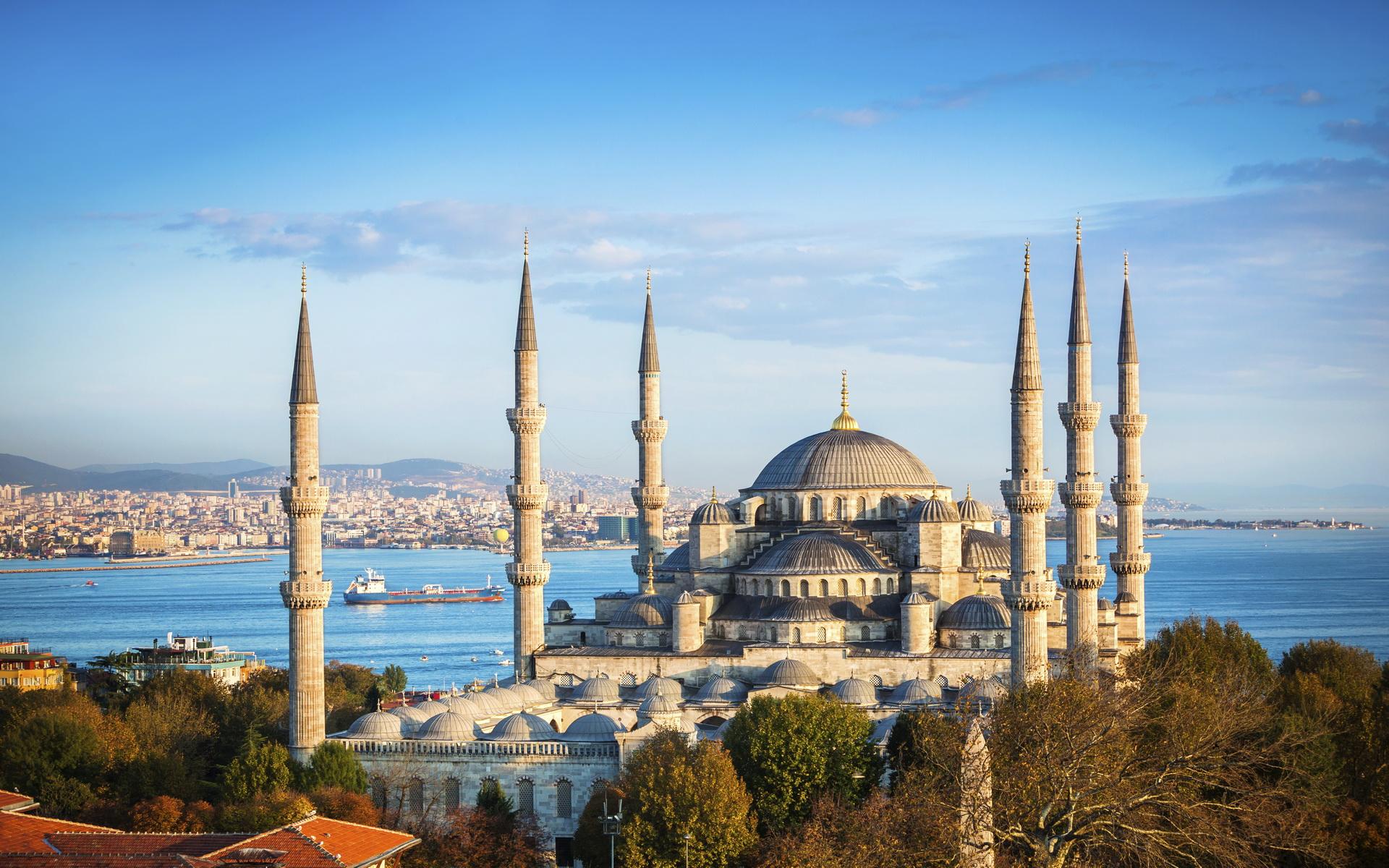 Обои стамбул, фонтан, турция, мечеть, Вода, мечеть султанахмет. Города foto 6