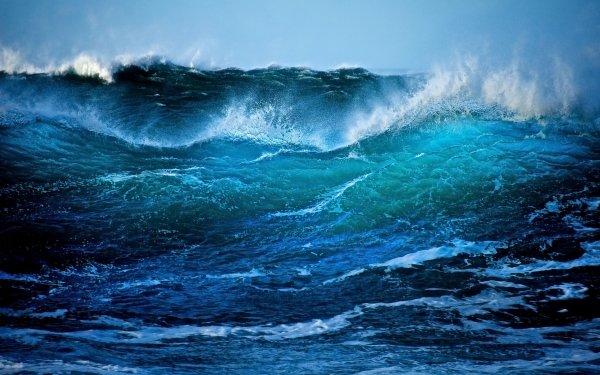 Earth Wave Sea Ocean Northern Ireland HD Wallpaper | Background Image