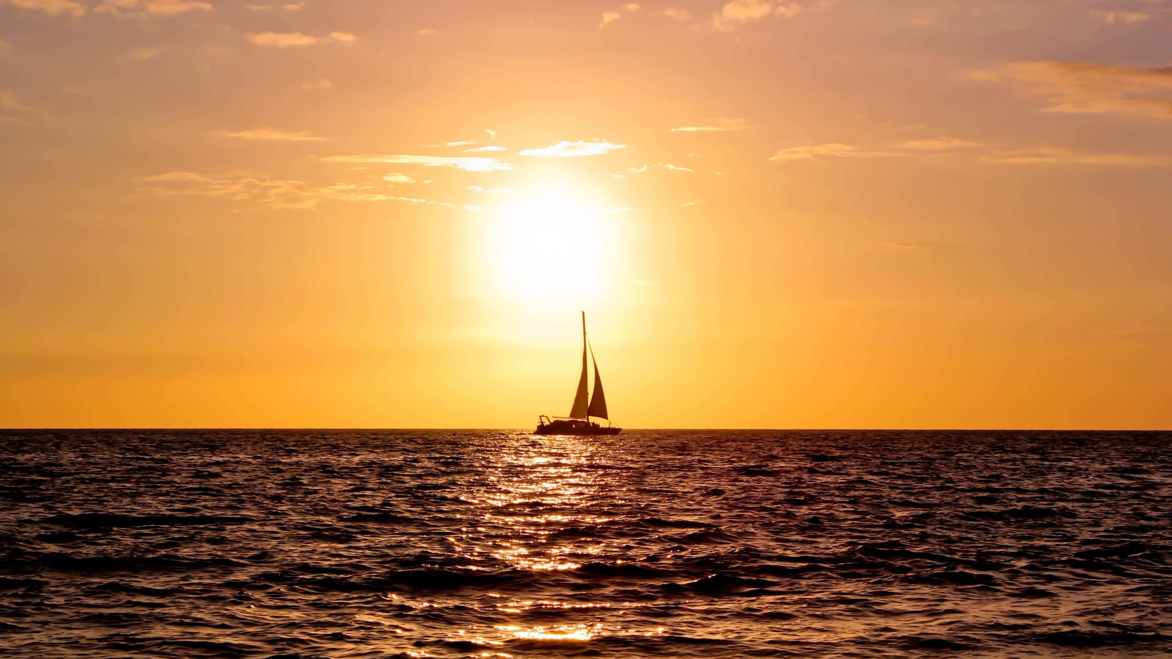 sailboat 4k ultra hd wallpaper and background image