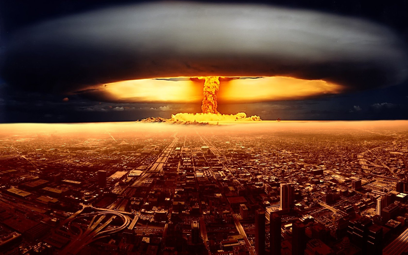 Military - Explosion  City Nuclear Explosion Apocalypse Nuclear Bomb Wallpaper