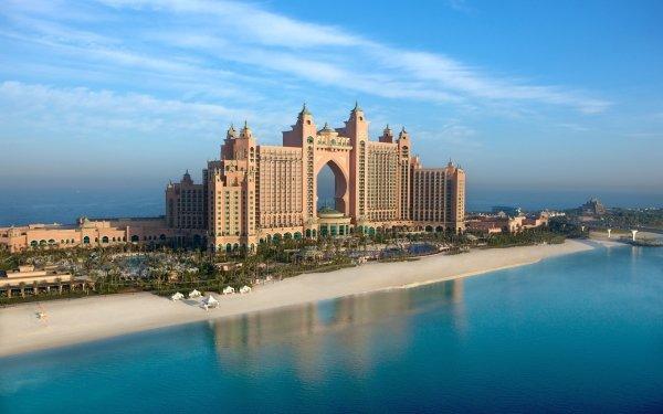 Man Made Atlantis, The Palm Buildings Hotel Atlantis Hotel Dubai HD Wallpaper | Background Image