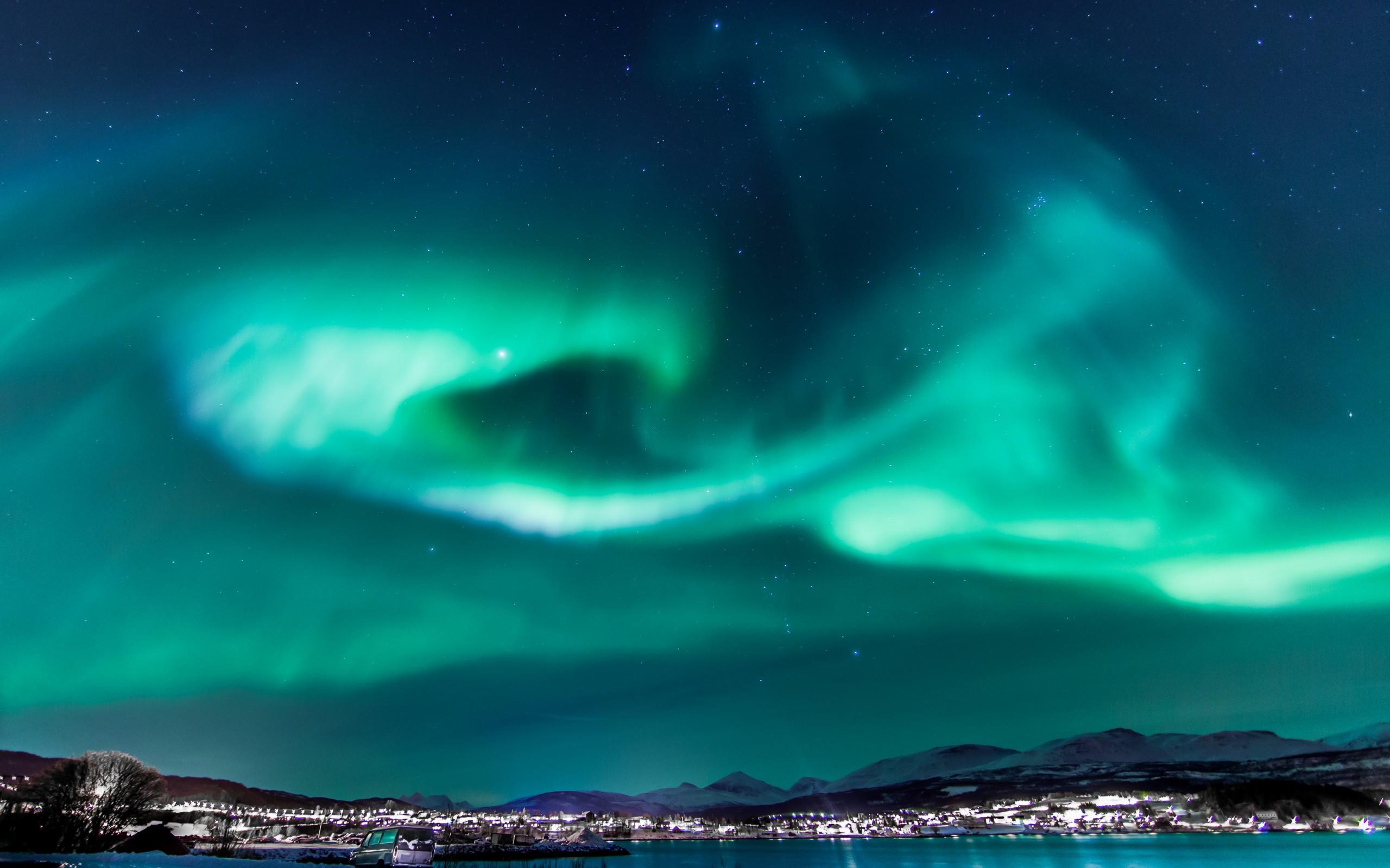 Terra natura aurora boreale sfondo for Sfondi desktop aurora boreale