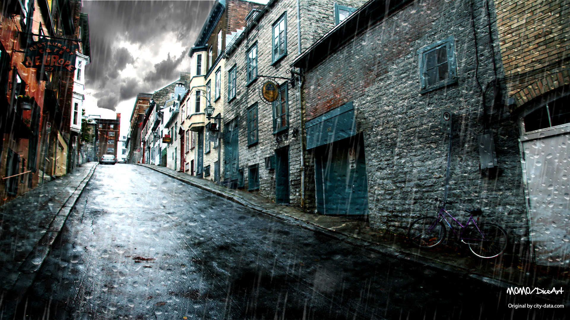 Street Images Hd Rainy Street Hd Wallpaper Background Image