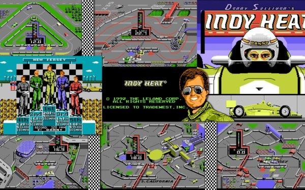 Video Game Danny Sullivan's Indy Heat HD Wallpaper | Background Image