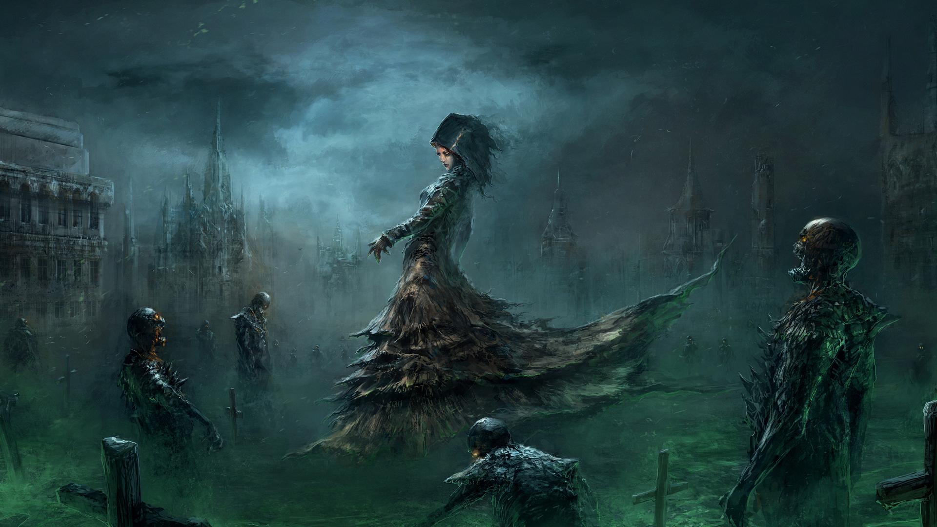 Fantasy Art Necromancers Wallpapers Hd Desktop And: Banshee Tapeta HD