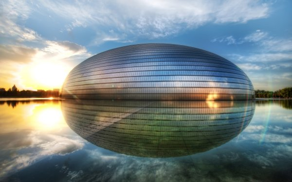 Man Made Beijing National Grand Theatre Buildings Beijing China Theatre HD Wallpaper | Background Image