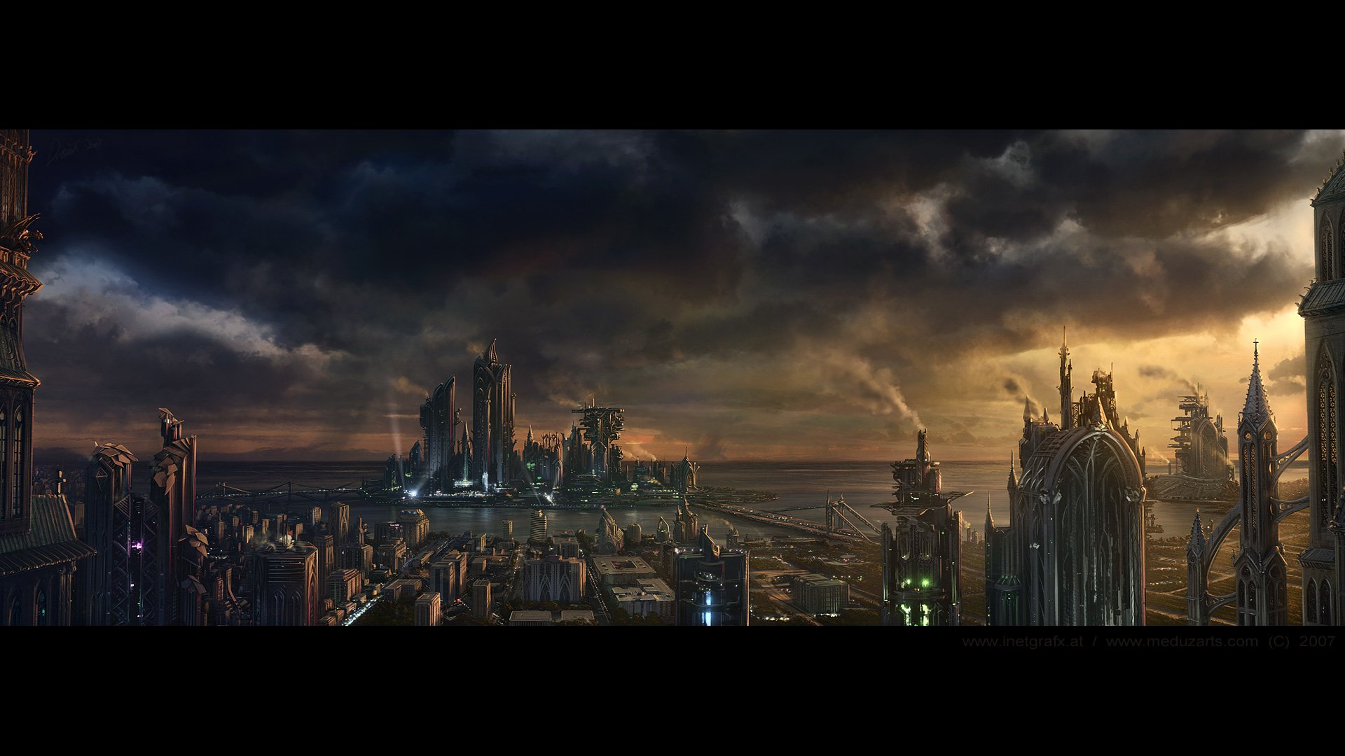 Sci Fi - City  Robot Wallpaper
