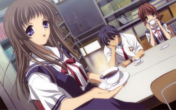 Anime Clannad Nagisa Furukawa Tomoya Okazaki Yukine Miyazawa HD Wallpaper | Background Image