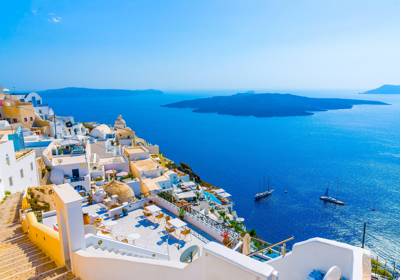 wallpaper santorini greece island - photo #1