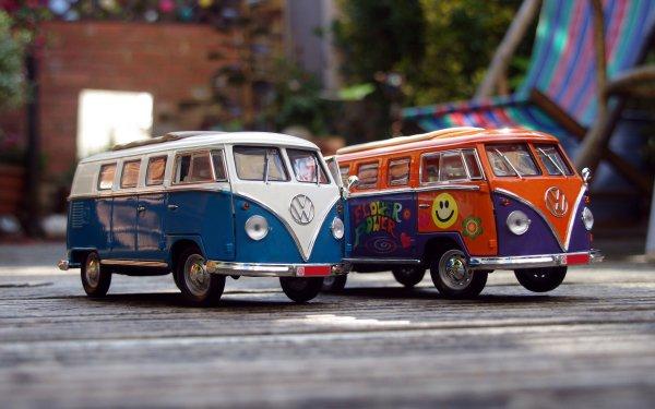 Man Made Toy Car Volkswagen Van HD Wallpaper | Background Image