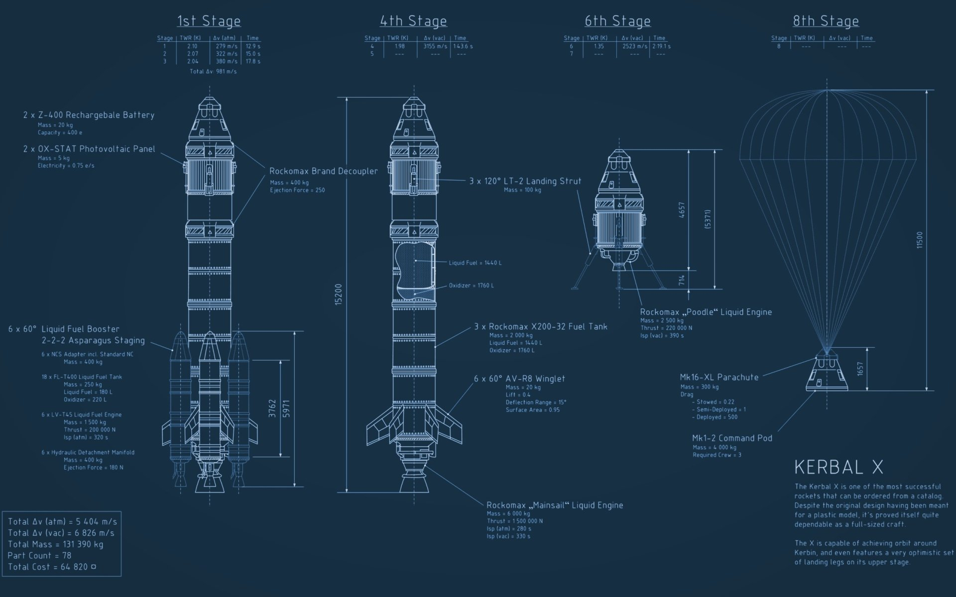 技术 - Schematic  Rocket 太空 宇宙飞船 壁纸
