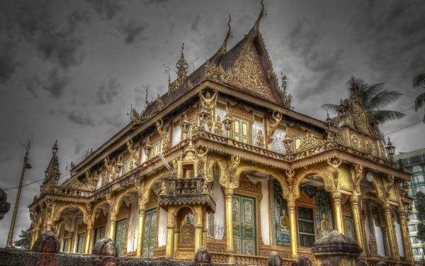 Religious Phnom Penh Temple Temples Temple Phnom Penh Cambodia HD Wallpaper   Background Image