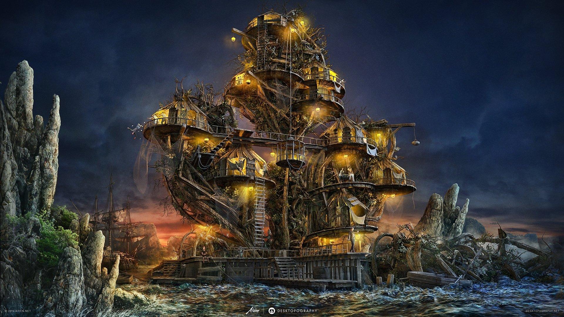 Fantasy - Building  Wallpaper