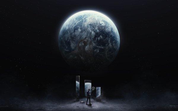 Artistic Desktopography Planet HD Wallpaper   Background Image