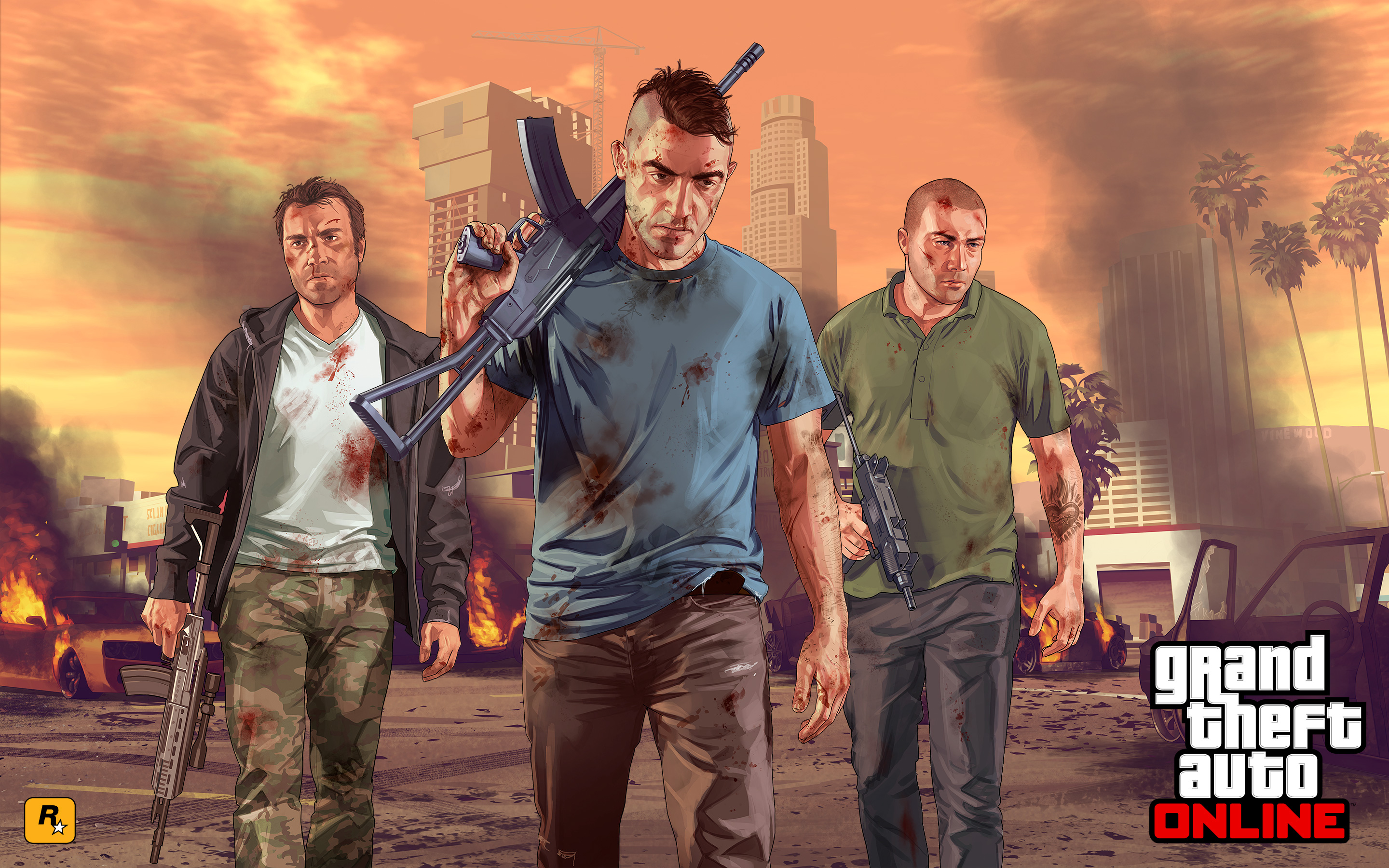 Grand Theft Auto V Hd Wallpaper Background Image 2880x1800 Id