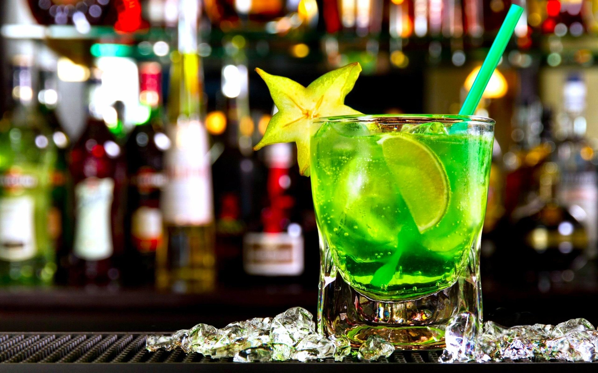 Food - Cocktail  Drink Mojito Green Summer Glass Wallpaper