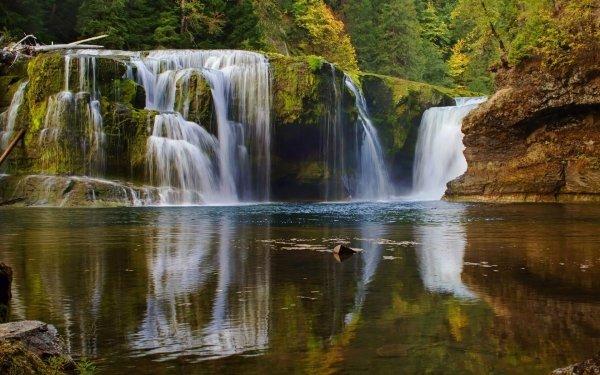 Earth Waterfall Waterfalls Creek Fall HD Wallpaper | Background Image