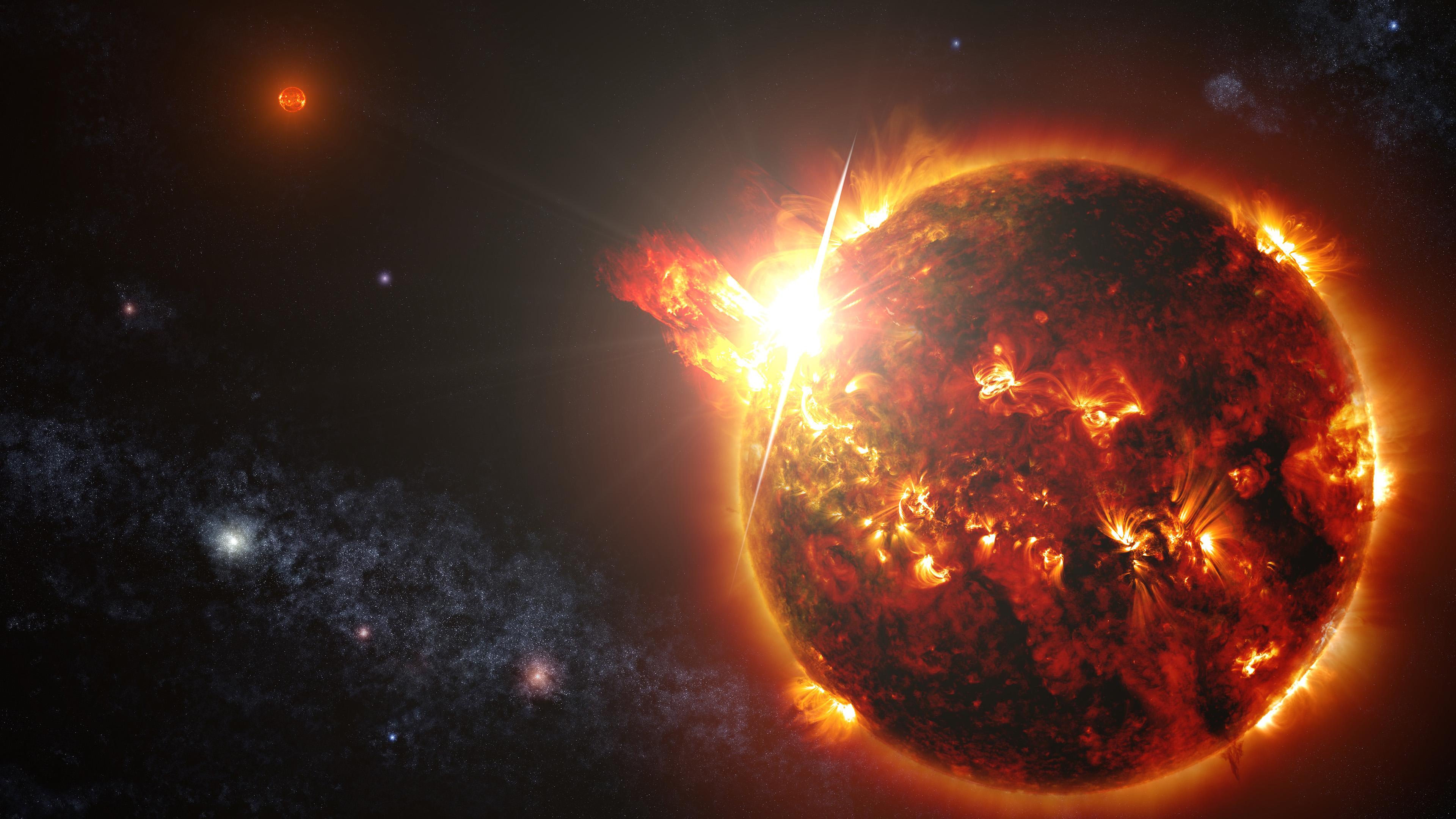 Sun 4k Ultra Hd Wallpaper Background Image 3840x2160 Id 549919