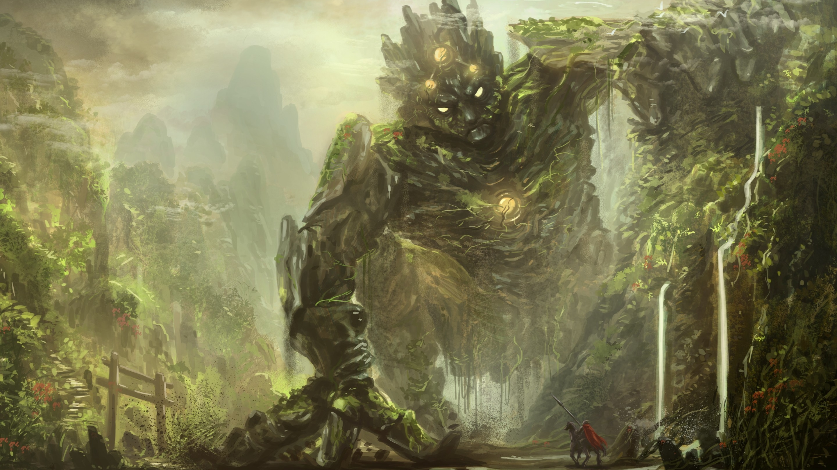 Gormath protector of the forest full hd wallpaper and - Fantasy wallpaper 3440x1440 ...