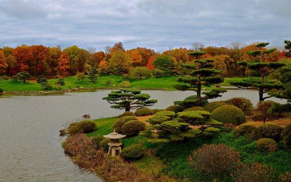 Man Made Japanese Garden HD Wallpaper | Background Image